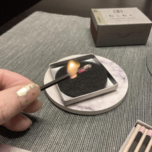 マッチ型お香「hibi」と白茶で夜のリラックスタイム_1_5