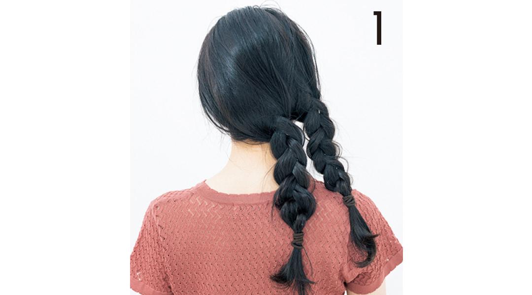 ヘア崩さない女子の三つ編み技★ 抜け感があるのに崩れない!_1_4