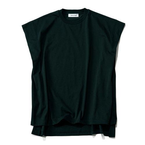 洗練されたTシャツコーデが叶う!「SACRA」コットンクルーネックトップ_1_3