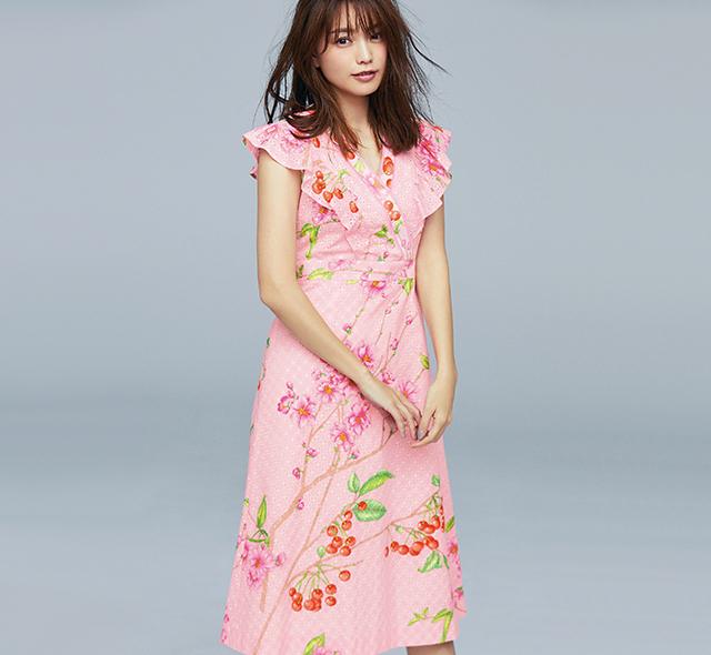 春らしいライトピンクと桜のモチーフで大人の可愛さを満喫!