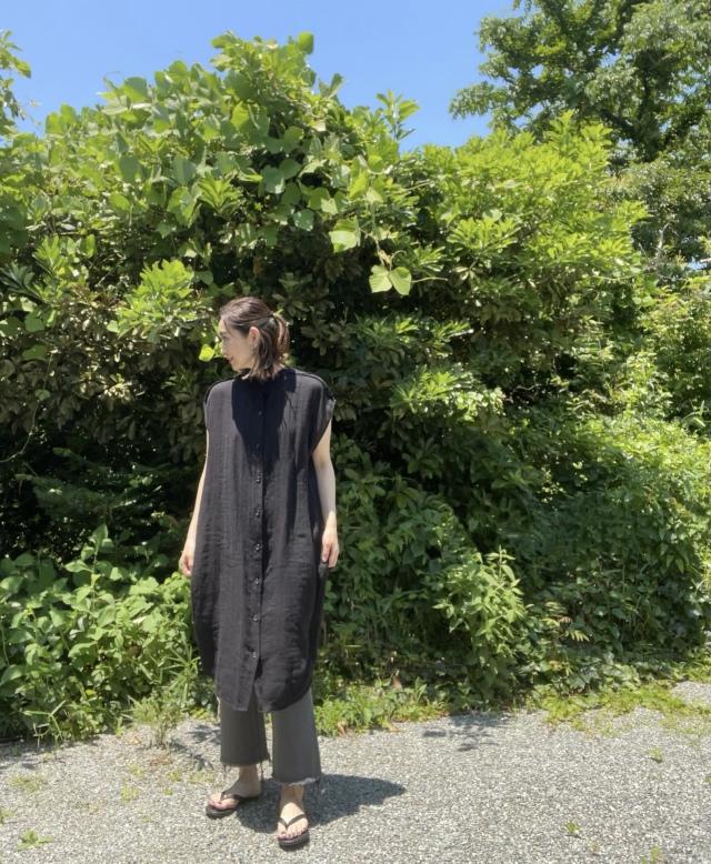 1枚2役。リネンで涼しい『ZARA』のロングシャツ。_1_3