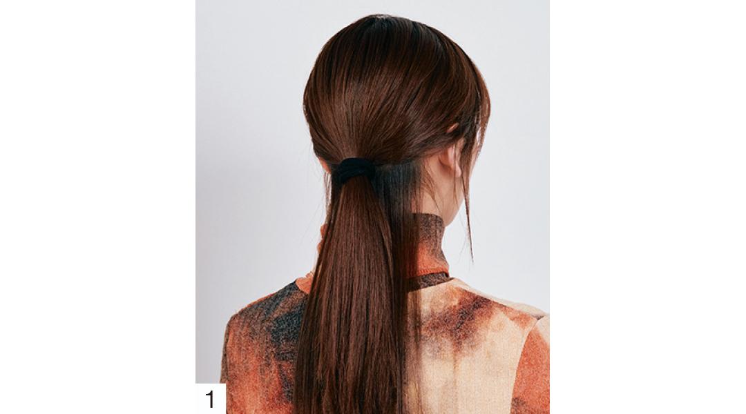 ストレートタッチのヘアアレ プロセス1