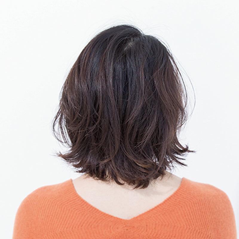 後ろから見た人気ボブヘアスタイル8位の髪型