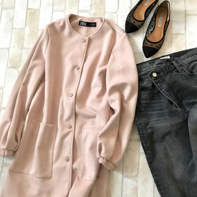 春のピンクでZARA通勤、7,990円ですごいコート買えちゃいます_1_1