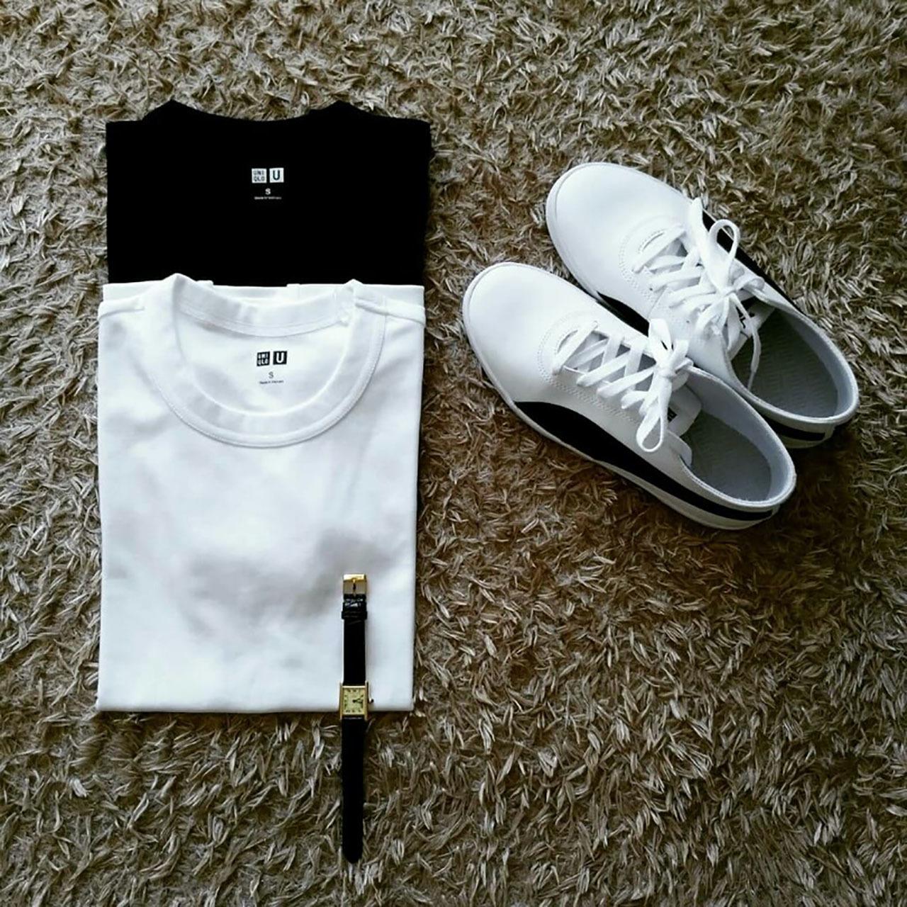 『ユニクロ ユー』のクルーネックTシャツ