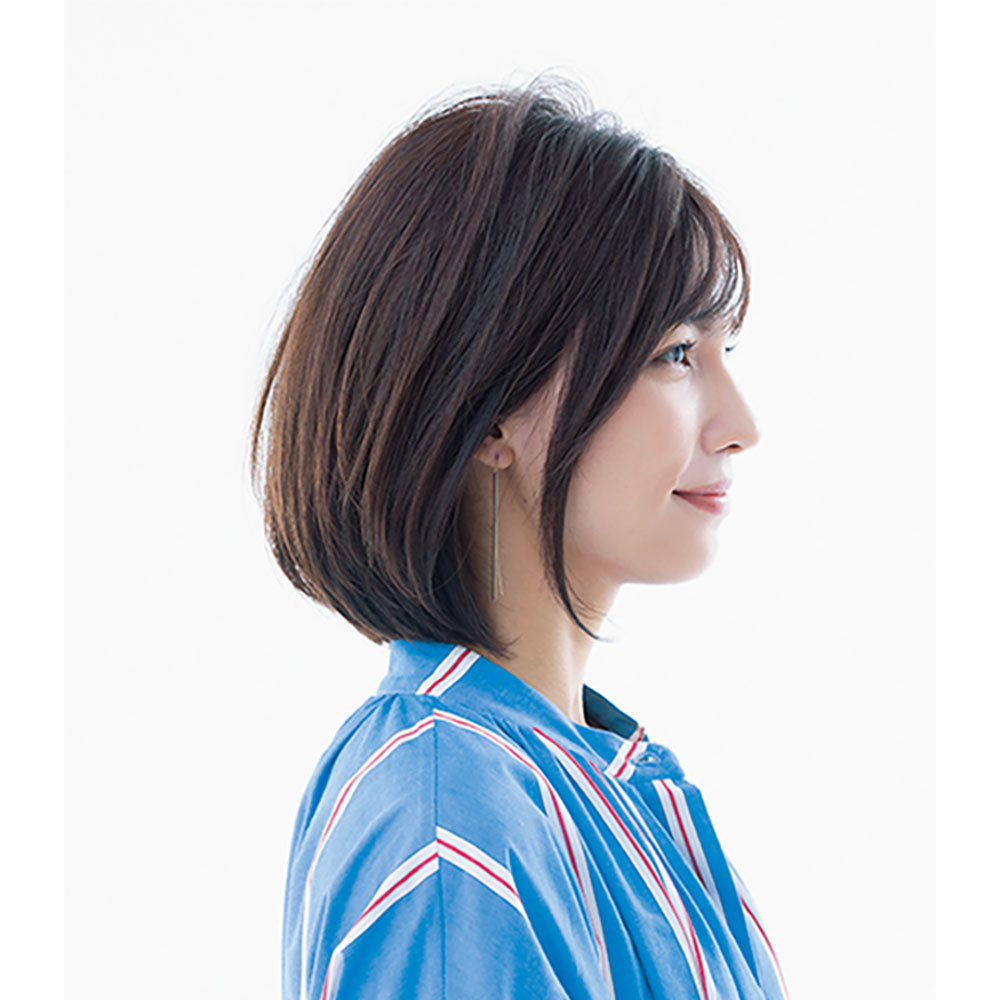 横から見た人気ヘアスタイル6位の髪型