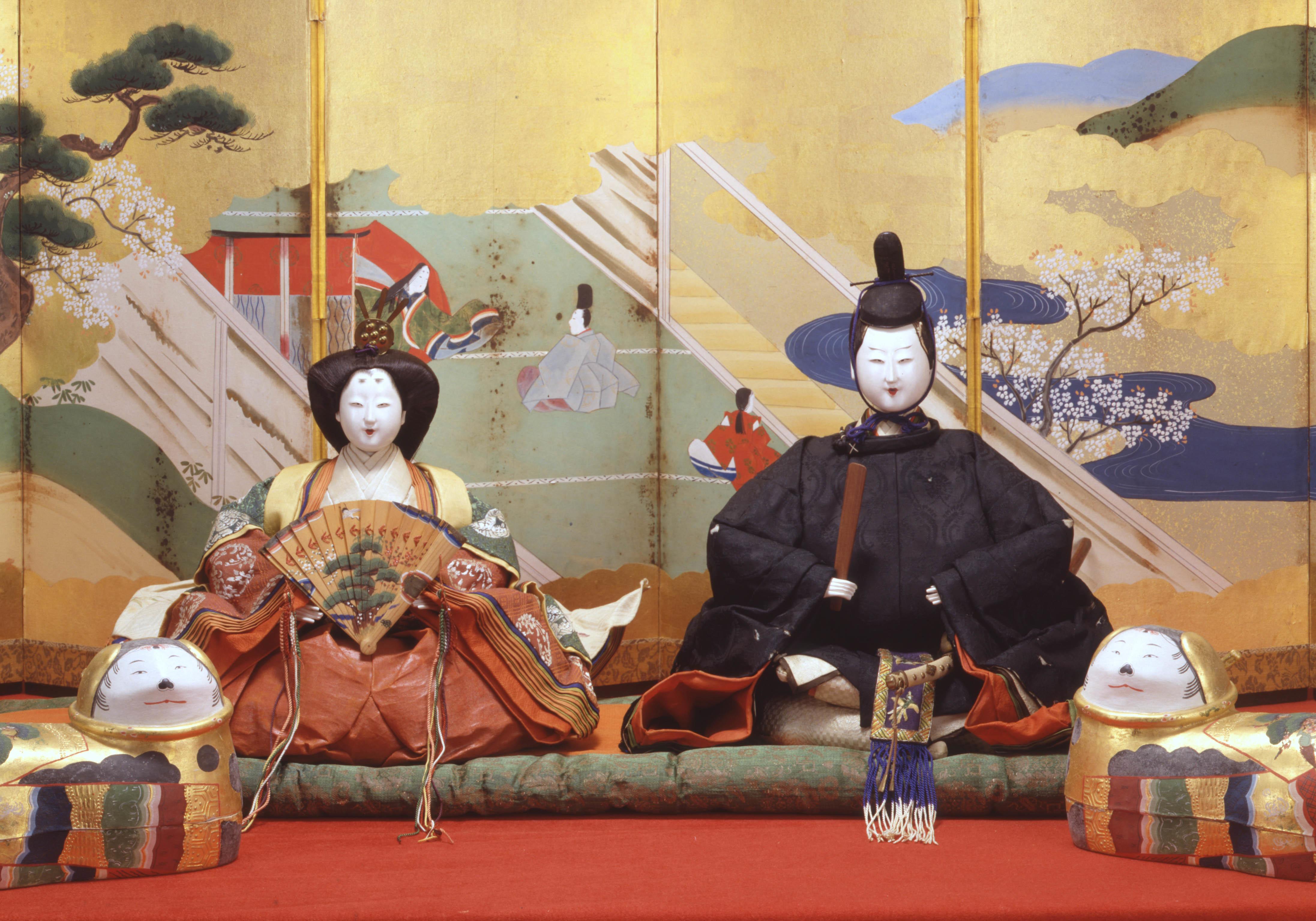 内裏雛飾り 徳川美術館蔵