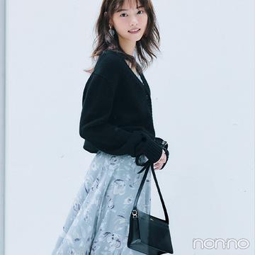 西野七瀬は繊細なフラワー柄スカートで女らしさをぐっと高めて♡【毎日コーデ】