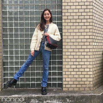 新木優子のデニムコーデはドクターマーチンのブーツ&ロエベのバッグがカギ!【モデルの私服】