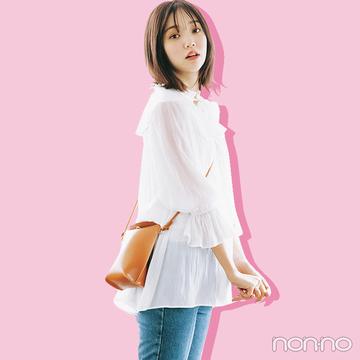 初夏の定番、白×デニムコーデは透けトップスであざと可愛く【大学生の毎日コーデ】
