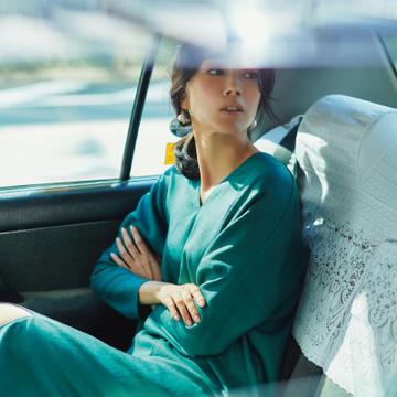 移動の多い日は、動きやすいジャージー素材のワンピースで【ワンピース30days】