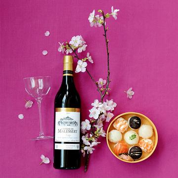 桜を見ながら味わう「シャトー・ド・マルセール プルミエ・グラン・クリュ」【飲むんだったら、イケてるワイン】