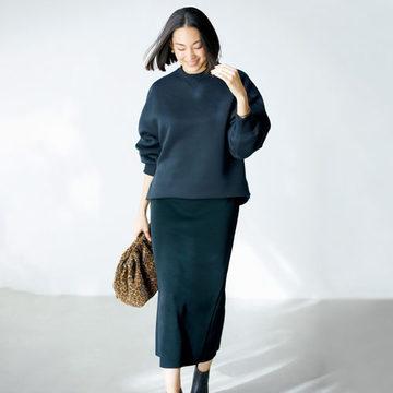 大人が嬉しいデザインで大ヒット「E by éclat」のスウェット&スリットニットスカート