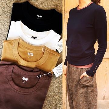 ユニクロ春買いTシャツ、チラ見せを 楽しむ☆