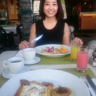 大定番だけどやっぱり好き。朝食はワイキキのアランチーノで。