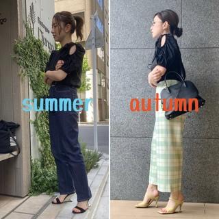 夏アイテムを秋コーデにチェンジ【ミニマルファッション】