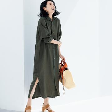 【大人の雰囲気出しワンピース】池田奈加子×フィナモレのシャツドレス