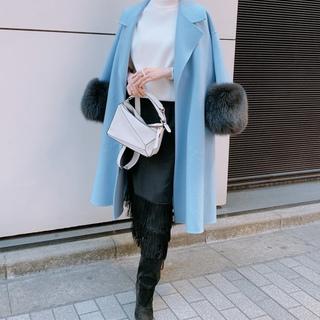 【ZARA】フリンジタイトスカート