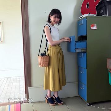 西野七瀬は夏っぽイエローのスカートでお出かけコーデ!【毎日コーデ】