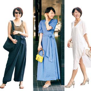 アラフォーの夏を全力で楽しむリアルな着こなし【美女組ファッションSNAP】