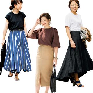 おしゃれプロのスカートコーデから40代のためのノースリーブTシャツまで【人気記事ランキングトップ5】