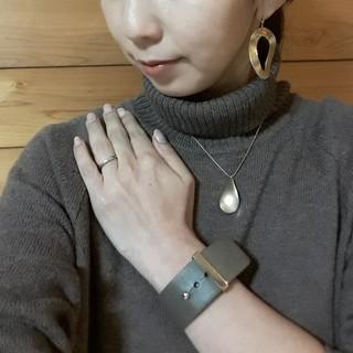 アラフォー女子会!ママ新年会のニットワンピースコーディネート_1_3