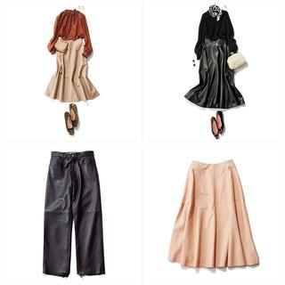 レザースカート&パンツの最旬コーデまとめ【2019年冬ファッションコーディネート】