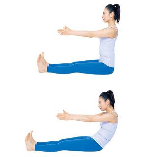 くびれのための第2ステップ。寝て、座って、おなかを引き締める | 40代ヘルスケア