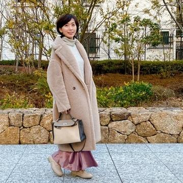 愛着服×ZARAのフェミニンスカート