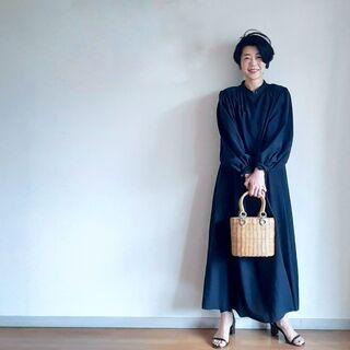 辛口カジュアル派でも着れた【黒×甘】ワンピース