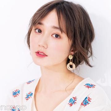 夏の小顔ヘアアレンジ★前髪と触角まわりでひし形を作る!