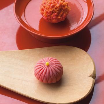 5.つくりたての和菓子4種とお茶のおまかせを名店のカウンターで 樫舎(かしや)