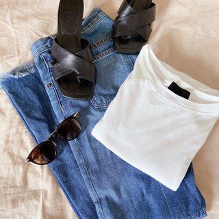 盛らなくてもサマになる! N.O.R.Cの白Tシャツ【40代のスタイルアップコーデ #6】