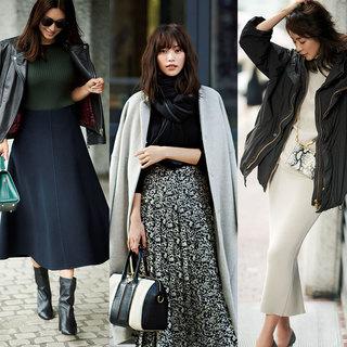 着映え指数の高さにこだわり!シンプル、カジュアル、フェミニン、3大女っぷりスタイルの「スカート選び」