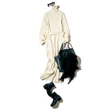 170cmエディター・坪田あさみさんの推しアイテム!「ATON」のリブニット&スカートですらり華奢見え