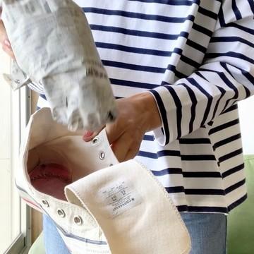 コンバースのお手入れ方法⑦ 靴の中に設置