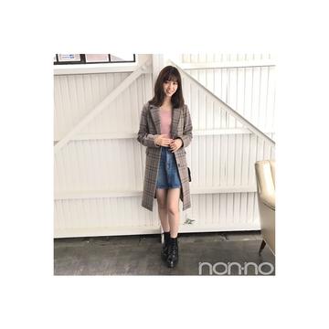 西野七瀬は旬のチェックコートをカジュアル可愛く着こなす!【毎日コーデ】