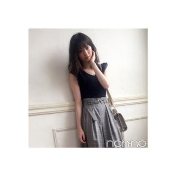 西野七瀬はグレンチェックのパンツでブリティッシュMIX♡【毎日コーデ】