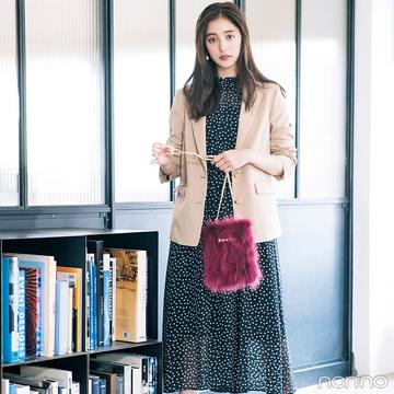 新木優子は花柄ワンピ&テーラードジャケットで今季イチ推しのトレンド感!【毎日コーデ】