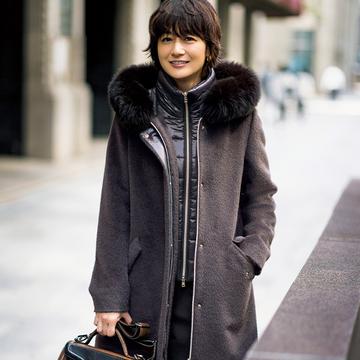 【冬の品格スタイルは「ヘルノ」のアウターから】深まる季節のおしゃれを、美しく洗練させて。