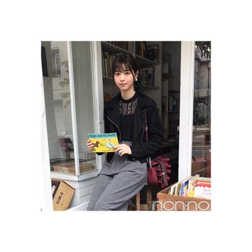西野七瀬のライダースJK×グレンチェックパンツコーデが今っぽい!【毎日コーデ】