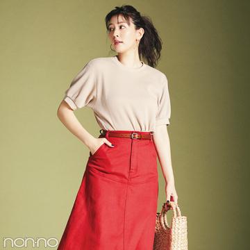 夏だからはきたい! カジュアル派の今っぽ赤スカート4選