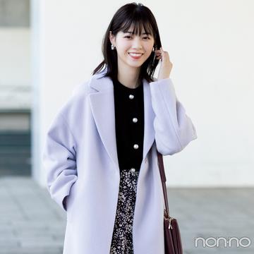 西野七瀬のフェミニンアウターナビ★ パステルのチェスターコートが最高可愛い!