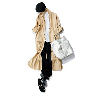休日の朝は、シャツワンピの重ね着でファーマーズマーケットへ【7月の雰囲気出しワンピース31days】