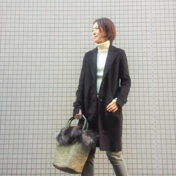 ZARAでショコラブラウンのコートと靴を