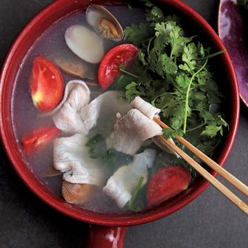 3.香菜しゃぶしゃぶ鍋