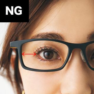 【Point 2】瞳がレンズの中央に来るのが正解
