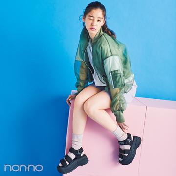 サンダル2019★ハイテク厚底スポサン系の靴下合わせ、正解教えます!