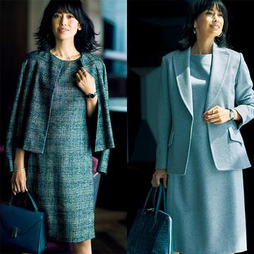 【ジャケット×ワンピースコーデ4選】ビジネスの日常にひとさじのドレスアップ感を!