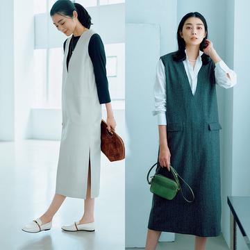 色や素材を変えて楽しむ!秋冬まで使えるシックなジャンパースカート2選